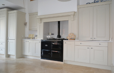 Classic Bespoke Kitchen Painted in Edwardian White with Heather Island.