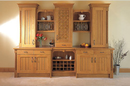 The mark of a truly classic design - this traditional Oak Dresser with its tongue & groove .doors, plate racks and wine rack will surely stand the test of time. and can be hand painted in a range of colours.
